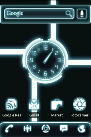 Glow Legacy Clock Widget - screenshot