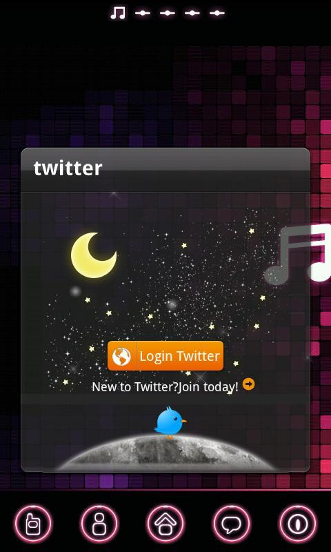 pinkmusic Theme GO Launcher EX - screenshot