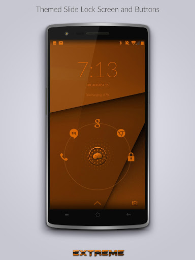 【免費個人化App】JB Extreme Theme Orange CM11-APP點子