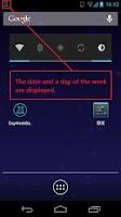 Screenshot of DayWeekBar English Blue