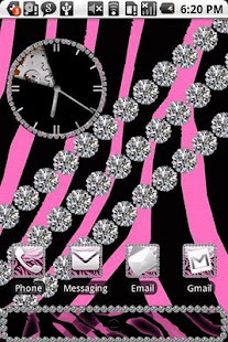 Zebra Pink Diamond Theme