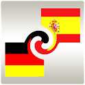 Learn German or Spanish widget logo