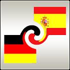 Learn German or Spanish widget icon