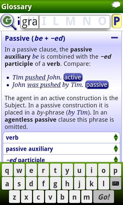 iGE Lite: iGrammar of English- screenshot