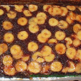 Chocolate Banana Rum Upside Down Cake.