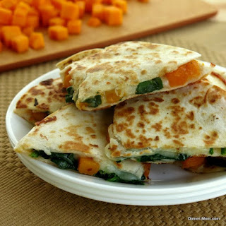 Butternut Squash and Spinach Quesadillas for #SundaySupper.