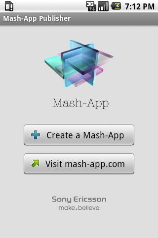 Mash-App Publisher - screenshot