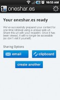 Screenshot of oneshar.es
