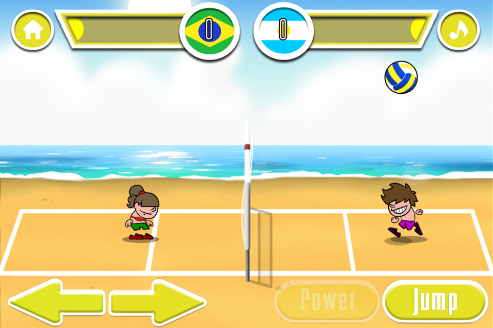 Beach Volleyball Game- screenshot