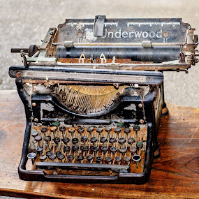 Typewriter by Angelica Glen - Artistic Objects Antiques ( text, typewriter, keys, write, type, antique, letters,  )