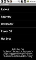 Screenshot of Quick Boot Plus