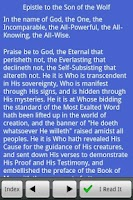Screenshot of Bahai: Epistle to the Son