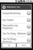 Screenshot of Meditation Words & Bell Timer