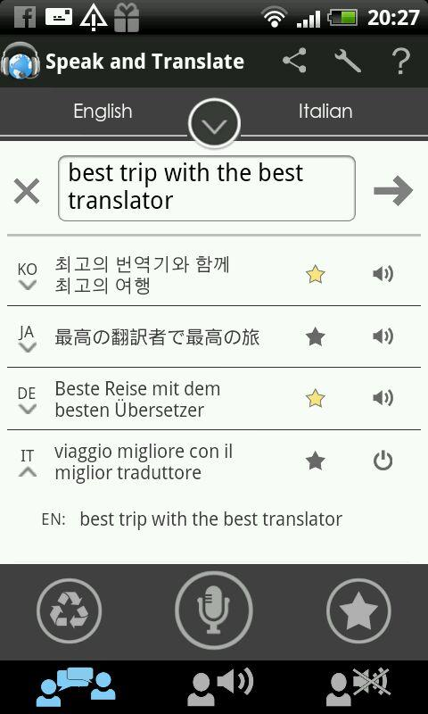 Translator Speak & Translate - screenshot