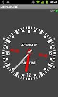 Screenshot of Sidereal Clock