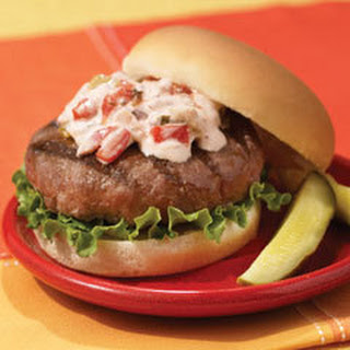 Lipton Onion Burgers With Creamy Salsa.