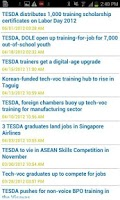 Screenshot of TESDA