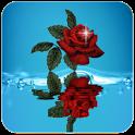 خلفية الوردة الحمراء icon