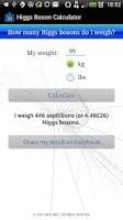 Screenshot of Higgs Boson Calculator