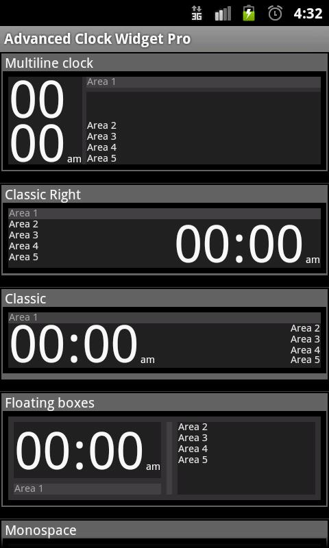 Advanced Clock Widget - screenshot