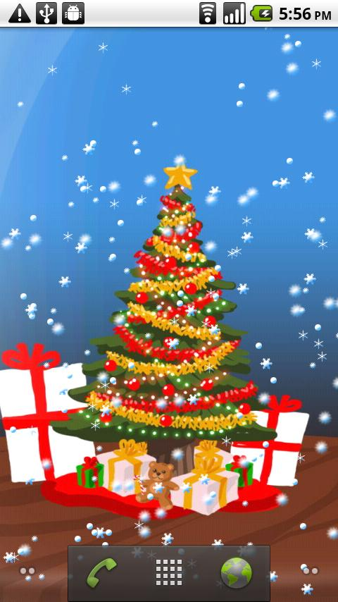 Christmas Snow-Globe LWP - screenshot