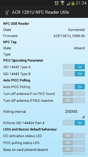 ACR 1281 USB NFC Reader Utils