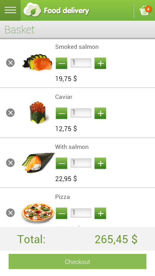 app store screenshot template - food delivery android apps on google play