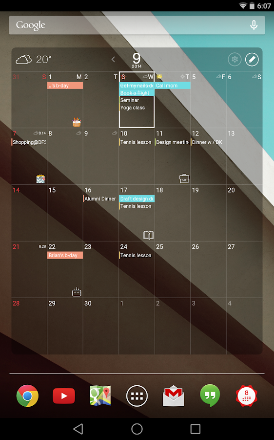 SolCalendar - Calendar / To do: captura de pantalla