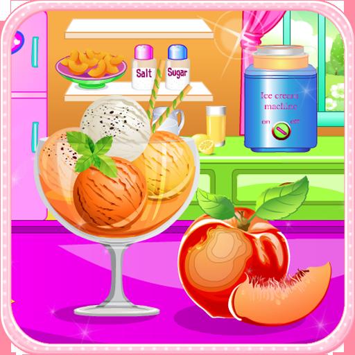 休闲のピーチアイスクリーム料理ゲーム LOGO-記事Game