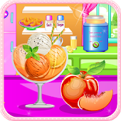 Peach ice cream cooking games