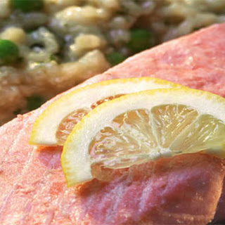 Salmon On Lemon And Herb Risotto