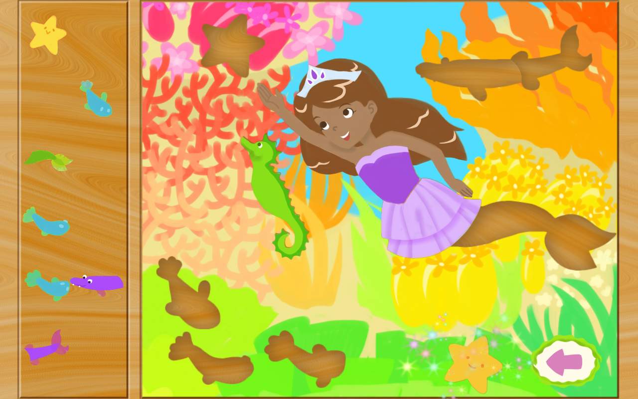 Mermaid Princess Puzzles - screenshot