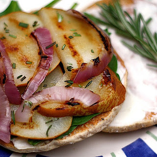 Grilled Cheese and Pear Sandwich with Red Onions and Rosemary Recipe