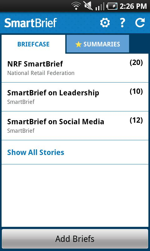 SmartBrief - screenshot