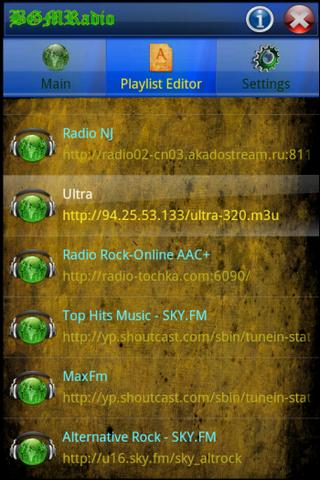 BGMRadio - screenshot