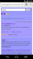 Screenshot of Purple Search for Google™