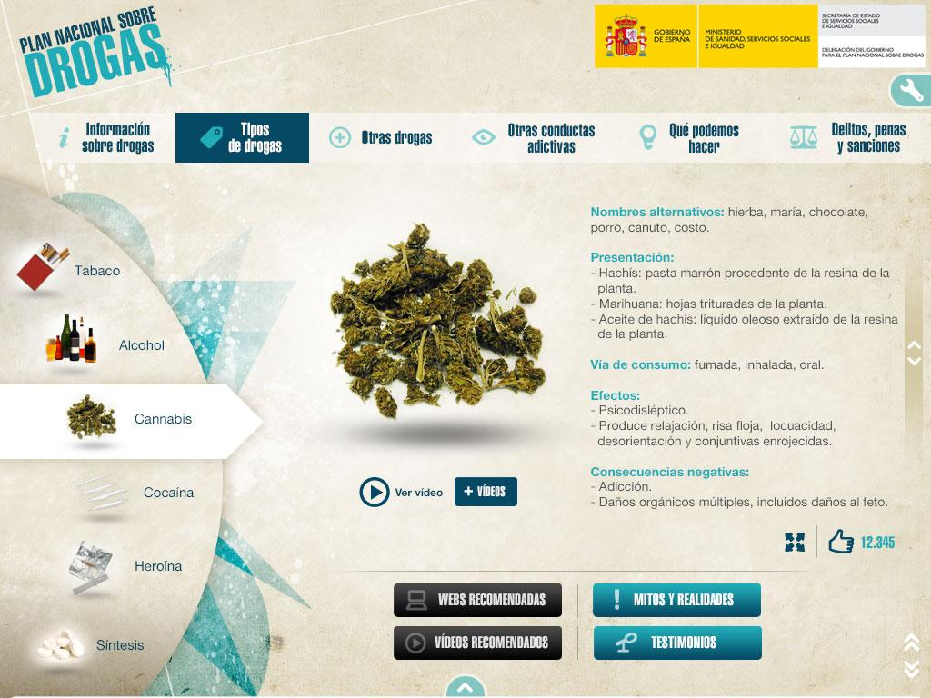 Plan Nacional sobre Drogas- screenshot
