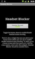 Screenshot of Headset Blocker