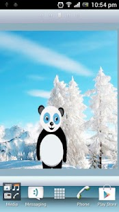 Snowfall Panda HD Live WP - screenshot thumbnail