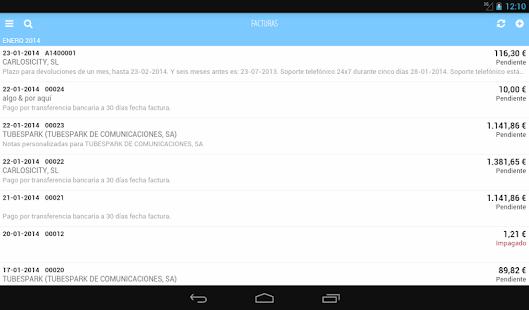 Facturas con FacturaDirecta - screenshot thumbnail