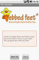 Screenshot of SEO Tips Guide