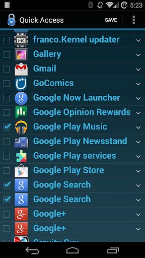 Quick Access from Lockscreen