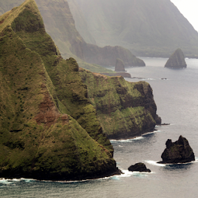 Hawaii Shoreline  by Dory Formiller - Landscapes Waterscapes ( 2014,  )