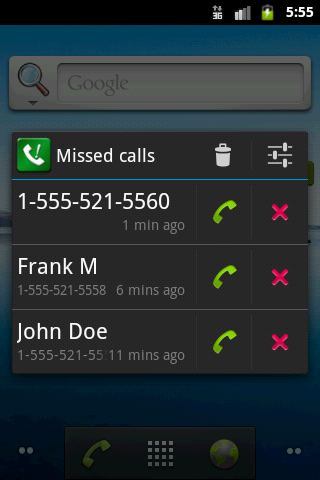 Sensible Missed Call Reminder - screenshot