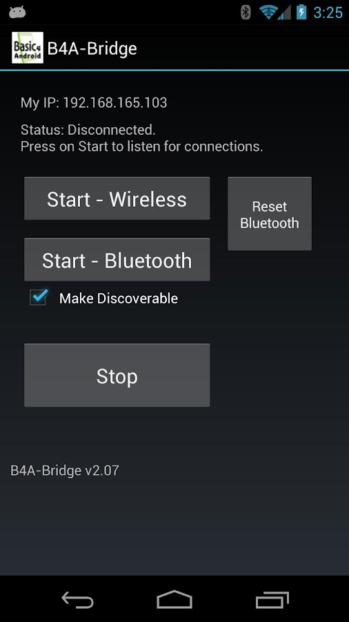 B4A-Bridge - screenshot