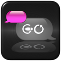 GO SMS THEME COOL PINK IPHONE icon