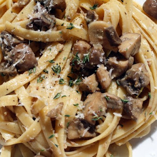Creamy Mushroom Fettuccine