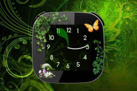 Nature v2 Clock widget- screenshot