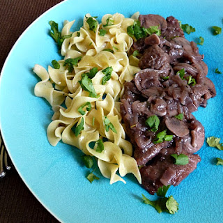 Pork Tenderloin Medallions in Red Wine Sauce with Mushrooms Recipe