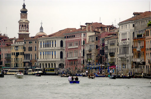 """JFgrandcanalvenice - The Grand Canal, lined with former palaces and homes of nobles, is the """"Main Street"""" of Venice."""